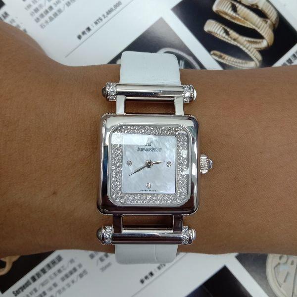 原裝 Audemars Piguet AP 愛彼 18K金 鑽圈 石英 女錶 附保單 喜歡價可議 ZR499